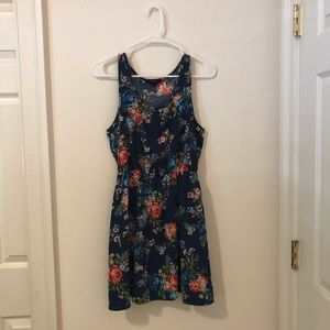 Fit and Flare Floral Summer Dress